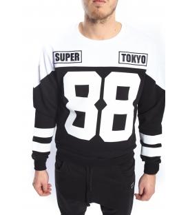 STK SUPER TOKYO Felpa con stampa NERO STK1137