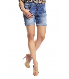 PLEASE short boyfriend baggy 5 buttons DENIM P88E13