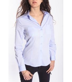 DENNY ROSE Camicia in cotone AZZURRO 46DR41029