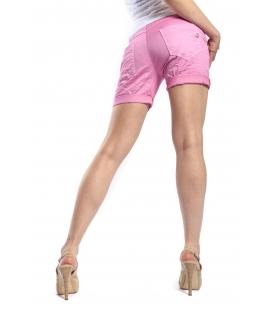 MARYLEY Shorts boyfriend baggy 4 bottoni B67B ROSA