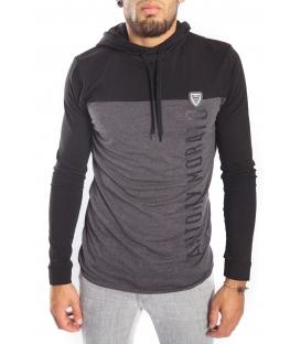 Antony Morato maglia con cappuccio e stampa logo mmkl00164