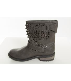 ALCOTT scarpa donna alta stivaletto GRIGIO