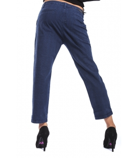 J-CUBE Pantalone boyfriend baggy fantasy col. ROYAL Art. JC124