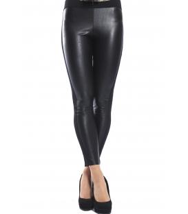 DENNY ROSE Pantalone leggings slim fit ecopelle NERO 52DR21018