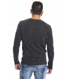DIKTAT Maglione in lana girocollo GRIGIO Art. D77032