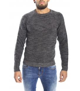 DIKTAT Maglione in lana girocollo FANTASY GREY Art. D77032