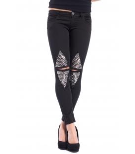 DENNY ROSE Jeans slim fit con borchie NERO 52DR22007