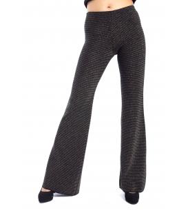 DENNY ROSE Pantalone palazzo in maglia NERO 52DR52003