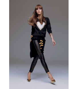 DENNY ROSE Leggings in ecopelle NERO 51DR21024