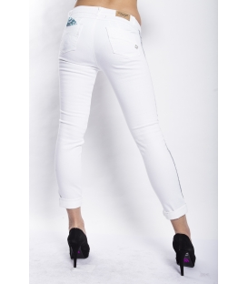MARYLEY Jeans woman slim fit push-up WHITE Art. B690/T08