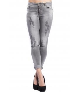 MARYLEY Jeans woman slim fit push-up GRIGIO Art. B690/G9B