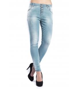MARYLEY Jeans woman boyfriend baggy TURCHESE Art. B60S/G2F