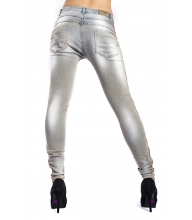 MARYLEY Jeans woman boyfriend baggy GRIGIO LAVATO Art. B63M/G52