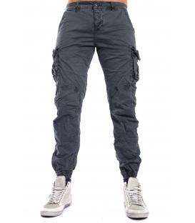 Pantalone UOMO con tasconi ed elastico in fondo GRAY J-9065