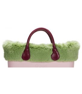 Bordo Ecopelliccia lapin Verde pallido per O Bag