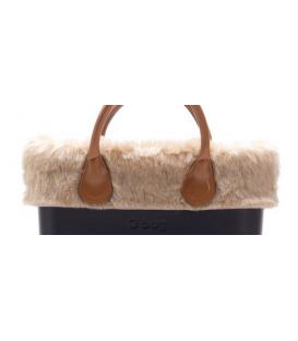 Bordo Ecopelliccia rabbit naturale per O Bag mini