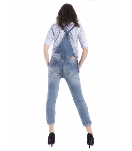 Salopette woman boyfriend baggy con strappi DENIM Art. SAL49