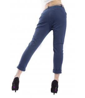 ZIMO Pantalone woman boyfriend baggy BLU Art. 3015