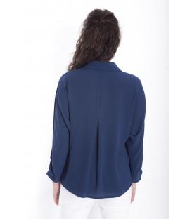 Camicia DONNA con bottoni BLU Art. 9140
