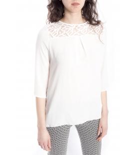Blusa DONNA con effetto plissé BIANCO Art. 41591
