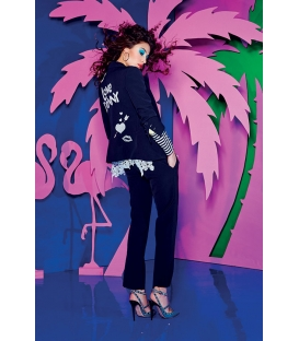 DENNY ROSE Pantalone elegante BLU Art. 63DR12016