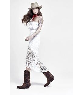 DENNY ROSE Abito in maglia + sottoveste WHITE Art. 63DR25003
