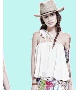 DENNY ROSE Top con fiocco WHITE Art. 63DR24000
