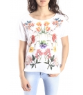 DENNY ROSE T-shirt con stampa WHITE Art. 63DR26015