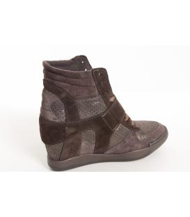 OVYE sneakers (scarponcino) con tacco interno MARRONE