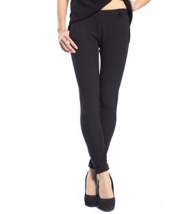 PLEASE Pantalone slim fit con zip NERO P975B37B NEW