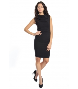 IMPERIAL Dress with zip AMR90BE BLACK new