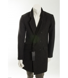 ANTONY MORATO Cappotto lungo in lana con bottoni art MMCO00116 NERO