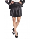 SUSY MIX Skirt in eco-leather with zip BLACK Art. 1483 NEW