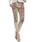 MARYLEY Jeans boyfriend baggy FANTASY with flowers Art. B68U MADE IN ITALY