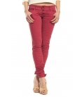 PLEASE jeans slim fit 3 buttons CARDINAL RED P83 OLD+3D