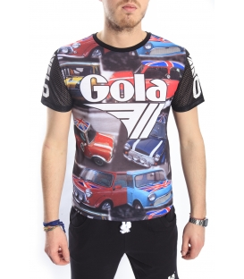 GOLA T-shirt with print cars BLACK GOU372