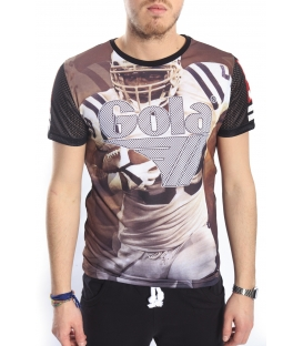 GOLA T-shirt with print baseball BLACK GOU357
