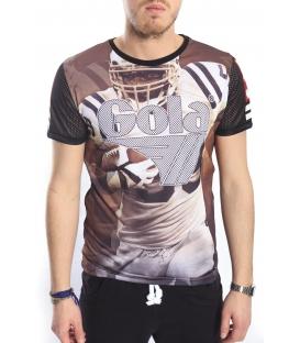 GOLA T-shirt con stampa baseball BLACK GOU357