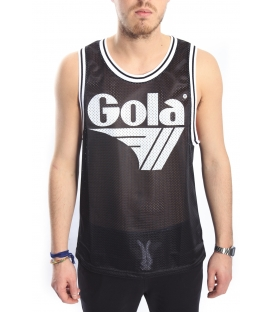GOLA Tank / T-shirt perforated with print BLACK GOU311