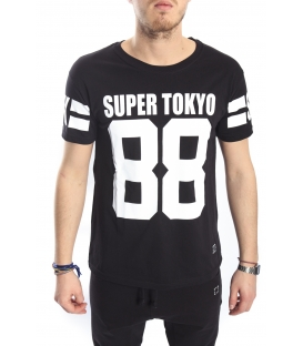 STK SUPER TOKYO T-shirt with print BLACK STK1140
