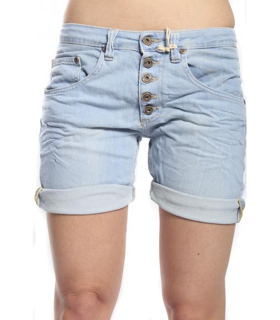PLEASE shorts boyfriend baggy 5 buttons LIGHT DENIM P88DC6