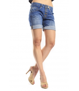 PLEASE shorts boyfriend baggy 5 buttons DENIM P88123