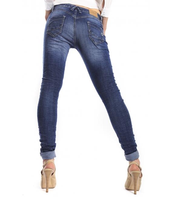 PLEASE jeans slim fit with zip DENIM P21