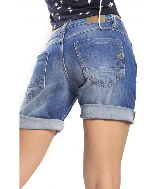 PLEASE shorts boyfriend baggy 5 buttons DENIM P88123