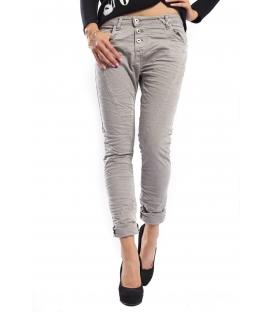 PLEASE jeans boyfriend baggy 3 buttons SLATE GRAY + 3D P78ACU94U NEW
