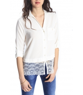 RINASCIMENTO Shirt/Blouse with lace WHITE Art. CFC0066489003