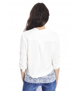RINASCIMENTO Camicia/blusa con pizzo BIANCO Art. CFC0066489003