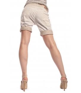 MARYLEY Shorts boyfriend baggy WASHED BEIGE B88S
