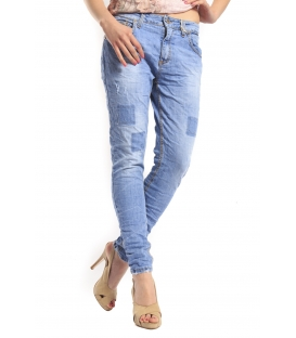 MARYLEY Jeans boyfriend baggy DENIM with patches Art. 5EB804