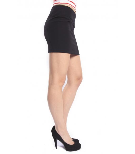 DENNY ROSE Skirt with pockets BLACK 46DR71010